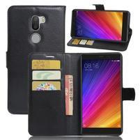 Graines knížkové PU kožené pouzdro na Xiaomi Mi5s Plus - černé