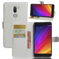 Graines knížkové PU kožené pouzdro na Xiaomi Mi5s Plus - bílé