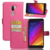 Graines knížkové PU kožené pouzdro na Xiaomi Mi5s Plus - rose