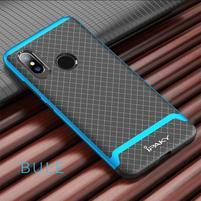 IPAK odolný obal z kombinace gelu a plastu pro Xiaomi Mi 8 - modrý