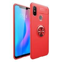 Ring gelový obal na mobil Xiaomi Mi 8 - červený