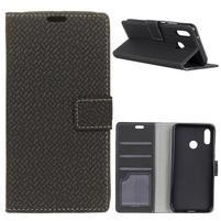 Wove PU kožené peněženkové pouzdro na Xiaomi Mi 8 - černé