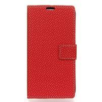 Wove PU kožené peněženkové pouzdro na Xiaomi Mi 8 - červené