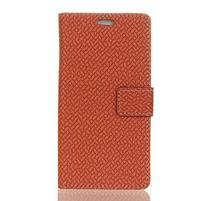 Wove PU kožené peněženkové pouzdro na Xiaomi Mi 8 - hnědé
