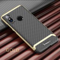 IPAK odolný obal z kombinace gelu a plastu pro Xiaomi Mi 8 - zlatý