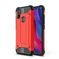 Defender odolný hybridní obal na mobil Xiaomi Mi 8 SE - červený