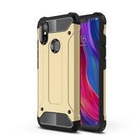 Defender odolný hybridní obal na mobil Xiaomi Mi 8 SE - zlatý