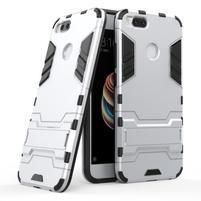Defender odolný obal se stojánkem na Xiaomi Mi A1 - stříbrný