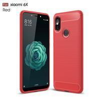 Carb odolný silikonový obal na Xiaomi Mi A2 - červený
