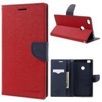 Diary PU kožené pouzdro na mobil Xiaomi Mi Max - červené