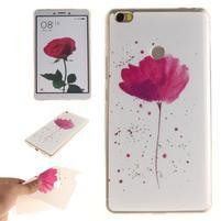 Softies gelový obal na mobil Xiaomi Mi Max - květinka