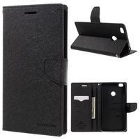 Diary PU kožené pouzdro na mobil Xiaomi Mi Max - černé