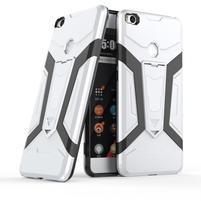 Kick hybridní odolný obal na Xiaomi Mi Max 2 - stříbrný