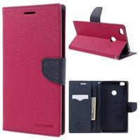 Diary PU kožené pouzdro na mobil Xiaomi Mi Max - rose