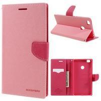 Diary PU kožené pouzdro na mobil Xiaomi Mi Max - růžové