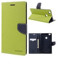 Diary PU kožené pouzdro na mobil Xiaomi Mi Max - zelené