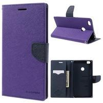 Diary PU kožené pouzdro na mobil Xiaomi Mi Max - fialové