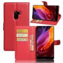 Cross PU kožené pouzdro na mobil Xiaomi Mi Mix - červené