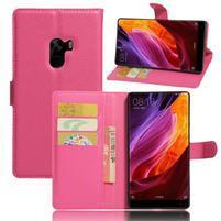 Cross PU kožené pouzdro na mobil Xiaomi Mi Mix - rose