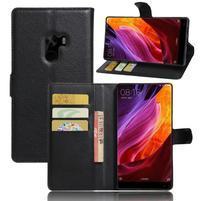 Cross PU kožené pouzdro na mobil Xiaomi Mi Mix - černé