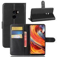 Wallet PU kožené pouzdro na Xiaomi Mi Mix 2 - černé