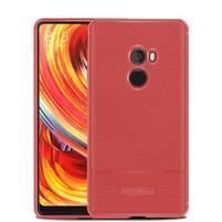 Wave texture gelový odolný obal na Xiaomi Mi Mix 2 - červený