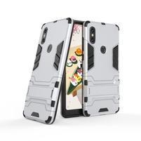 Guard odolný hybridní obal pro mobil Xiaomi Mi Mix 2s - stříbrný