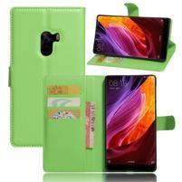 Cross PU kožené pouzdro na mobil Xiaomi Mi Mix - zelené