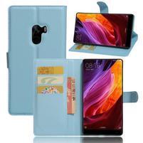 Cross PU kožené pouzdro na mobil Xiaomi Mi Mix - světlemodré