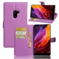 Cross PU kožené pouzdro na mobil Xiaomi Mi Mix - fialové