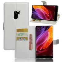Cross PU kožené pouzdro na mobil Xiaomi Mi Mix - bílé