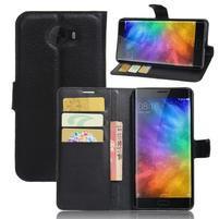 Grianes PU kožené pouzdro na mobil Xiaomi Mi Note 2 - černé