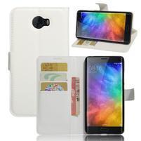 Grianes PU kožené pouzdro na mobil Xiaomi Mi Note 2 - bílé