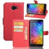 Grianes PU kožené pouzdro na mobil Xiaomi Mi Note 2 - červené
