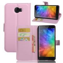 Grianes PU kožené pouzdro na mobil Xiaomi Mi Note 2 - růžové
