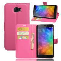 Grianes PU kožené pouzdro na mobil Xiaomi Mi Note 2 - rose