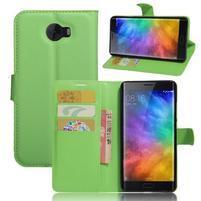 Grianes PU kožené pouzdro na mobil Xiaomi Mi Note 2 - zelené