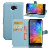 Grianes PU kožené pouzdro na mobil Xiaomi Mi Note 2 - modré
