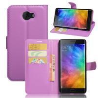 Grianes PU kožené pouzdro na mobil Xiaomi Mi Note 2 - fialové