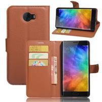 Grianes PU kožené pouzdro na mobil Xiaomi Mi Note 2 - hnědé