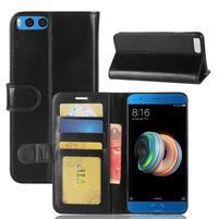 Wallet PU kožené pouzdro na Xiaomi Mi Note 3 - černé