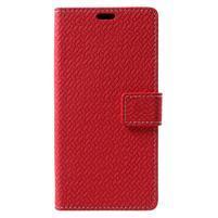 Texture PU kožené pouzdro na Xiaomi Mi Note 3 - červené