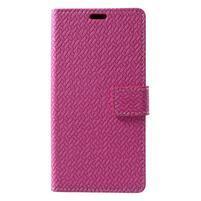 Texture PU kožené pouzdro na Xiaomi Mi Note 3 - rose