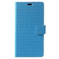 Texture PU kožené pouzdro na Xiaomi Mi Note 3 - modré
