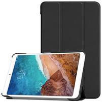 Triflod polohovatelné PU kožené pouzdro na tablet Xiaomi Mi Pad 4 - černé