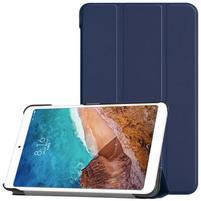 Triflod polohovatelné PU kožené pouzdro na tablet Xiaomi Mi Pad 4 - tmavěmodré