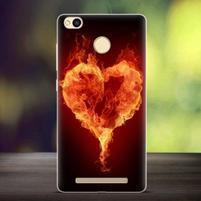 Lifty gelový obal na mobil Xiaomi Redmi 3S - ohnivé srdce