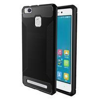 Carbon odolný gelový obal na Xiaomi Redmi 3s a 3Pro - černý