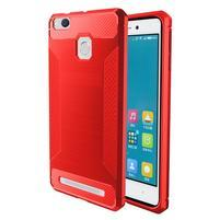 Carbon odolný gelový obal na Xiaomi Redmi 3s a 3Pro - červený