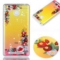 Patty gelový obal na Xiaomi Redmi 3S a 3 Pro - krásné květy